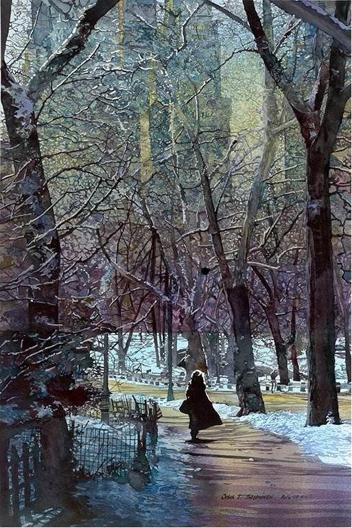 John Salminen watercolor