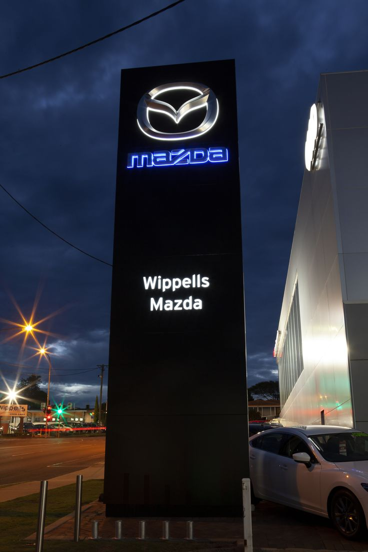 Wippells Mazda Pylon Sign In 2020 Pylon Sign Pylon Signage Outdoor Signs