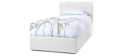 #Tuscany 3ft #Single White Faux Leather Ottoman #Bed Frame £234.99