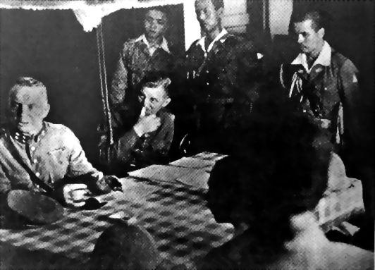 Hein ter Poorten surrendering to the Japanese, Kalidjati, Java, Dutch East Indies, 8 Mar 1942