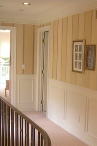 Painted Wood Paneling Wall Treatment