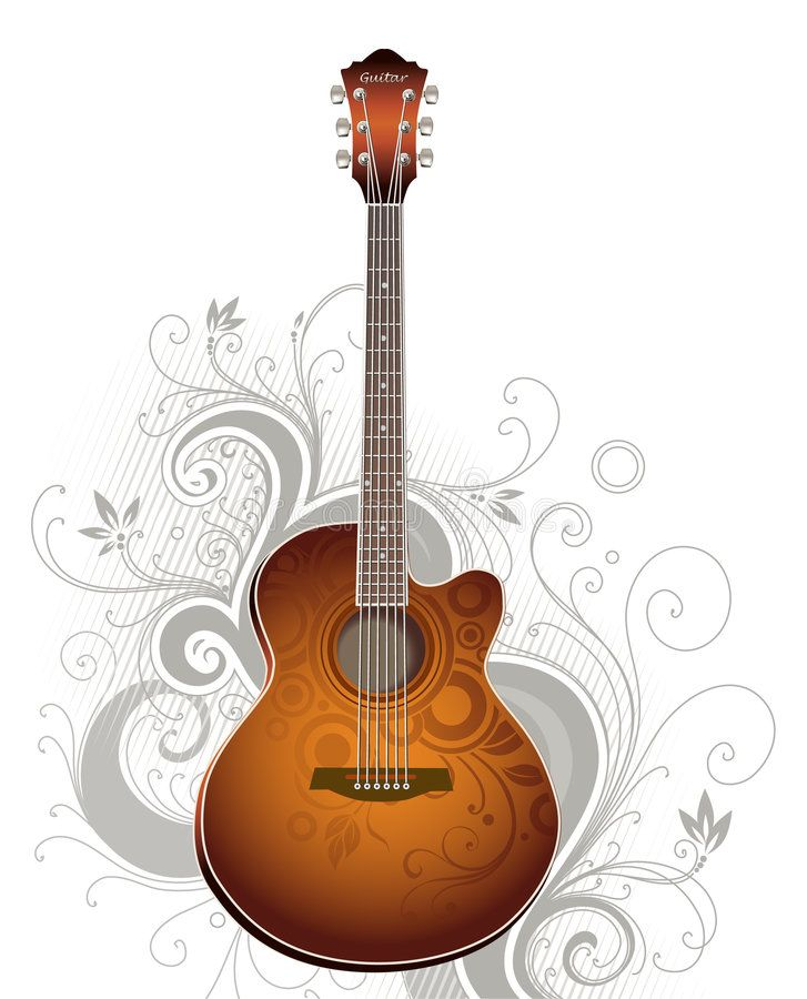 Guitar Acoustic Guitar Abstract Floral Background Sponsored Guitar Acoustic Guitar Background Graphic Design Art Music Backgrounds Guitar Vector