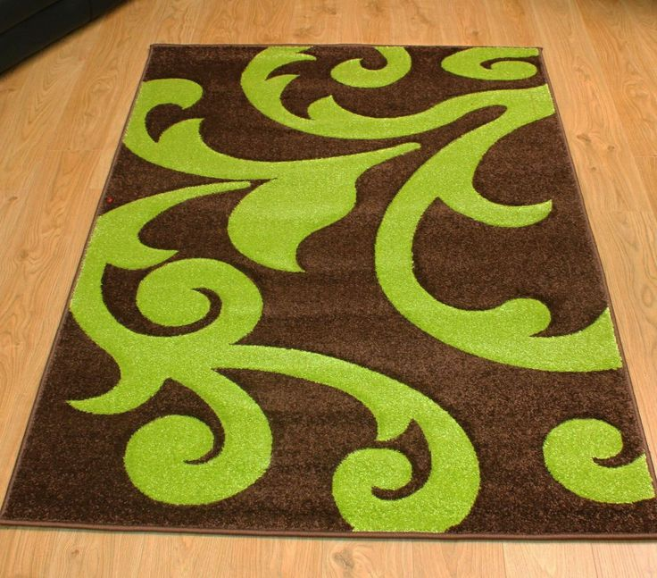 Modern Style Rugs Finike Damask Brown Green 120cm X 170cm 39 95 Http