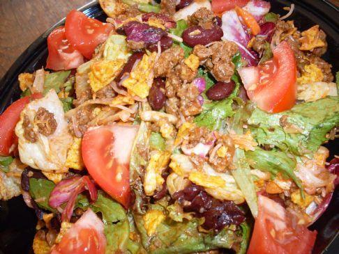 Healthified White Trash Taco Salad Recipe