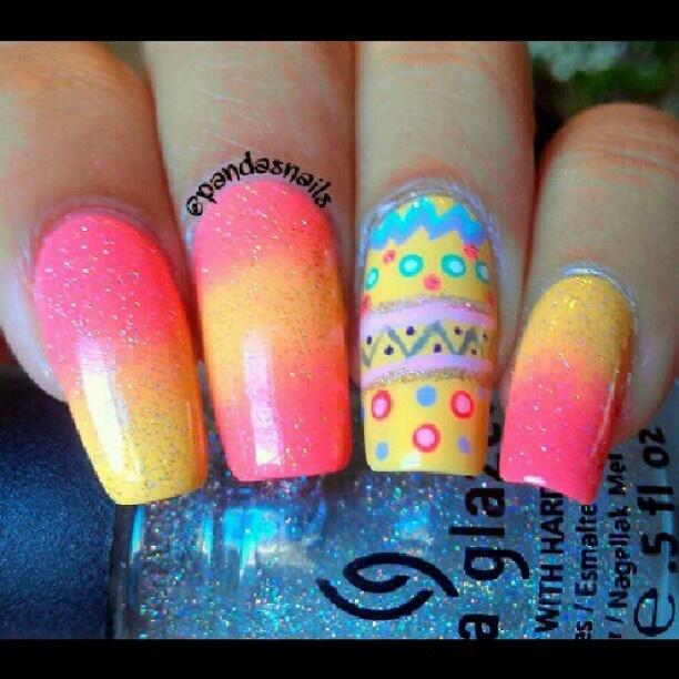 Kbshimmer Spring 2014 Chevron Dot Nail Art Easter Design: 59 Best Images About Easter Nails On Pinterest