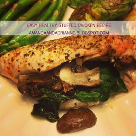 A Love Affair With Eyeliner: Easy Healthy Stuffed Chicken Recipe