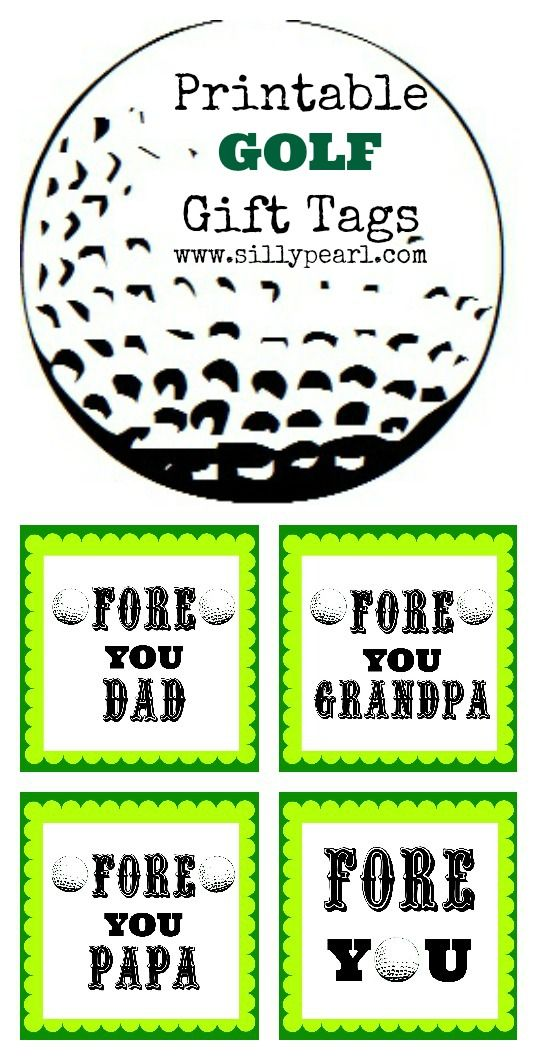 Free Printable: FORE You Golf Gift Tags   The Silly Pearl