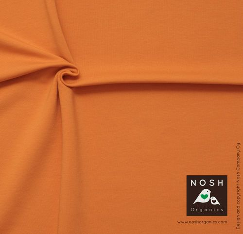 Stretch College, Orange. 95% Organic Cotton, 5% Elastane