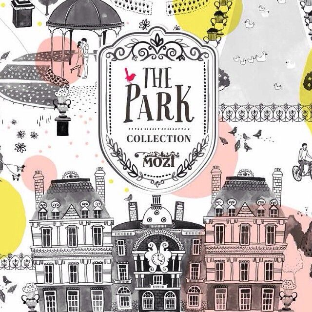 What's your favourite Paris landmark? Look closely and you will see the majestic Luxembourg Palace, the Medici Fountain, artists at work, local fresh flower stalls, iconic statues, pigeons picking at a snack and lovers being swept away by the romance of Paris.  The Park Collection - now on sale >> mozi.com.au