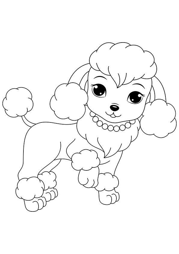 poodle dog coloring pages | poodle dog | Poodle | Puppy coloring pages, Coloring pages ...