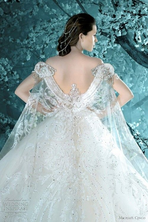Frozen inspired wedding dress