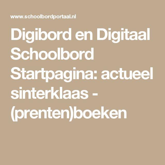 Digibord en Digitaal Schoolbord Startpagina: actueel sinterklaas - (prenten)boeken