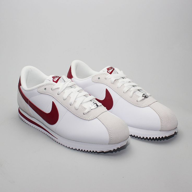Nike Cortez White With Red Swoosh saiz.co.uk