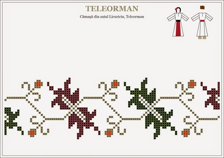 Semne Cusute: traditional Romanian motifs - MUNTENIA, Teleorman