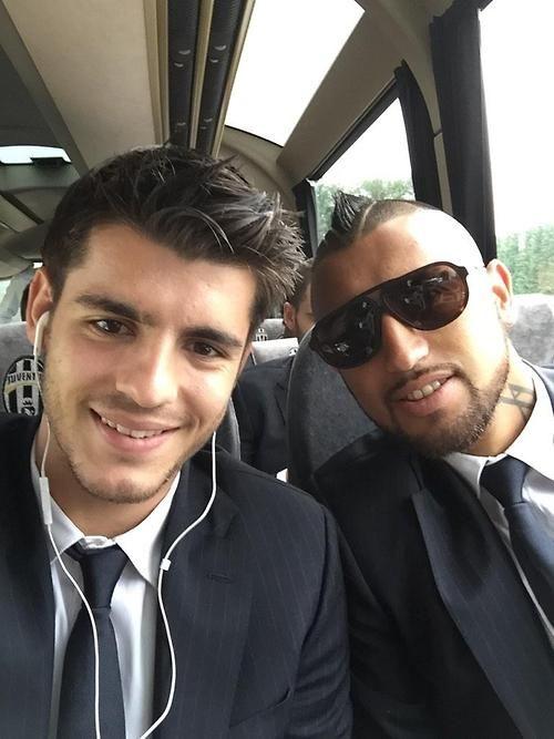 Alvaro Morata & Arturo Vidal