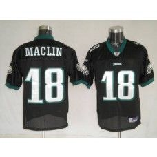 Eagles Jeremy Maclin #18 Stitched Black NFL Jersey