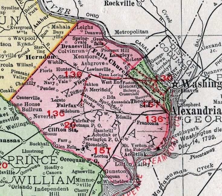 Vienna Virginia: 100 Best Historic Virginia County Maps Images On Pinterest