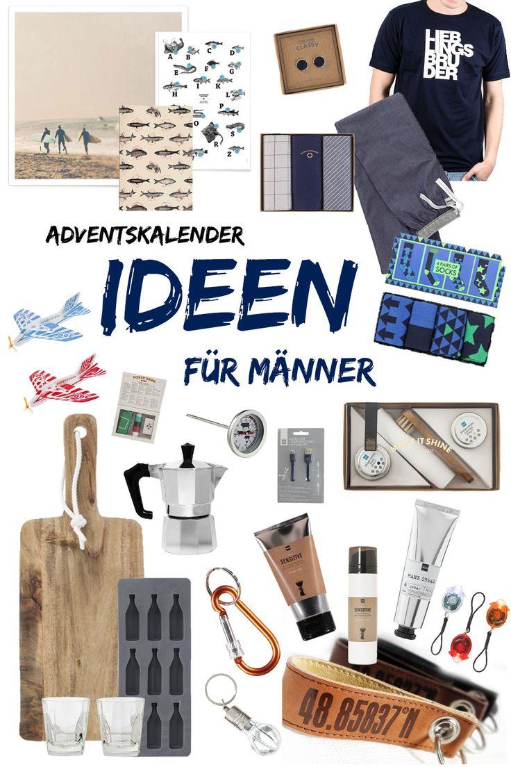 Adventskalender Ideen für Männer - Wie befülle ich bloß den Adventskalender für den Mann / Freund / Bruder? Wir haben 24 kleine Geschenkideen für euch!