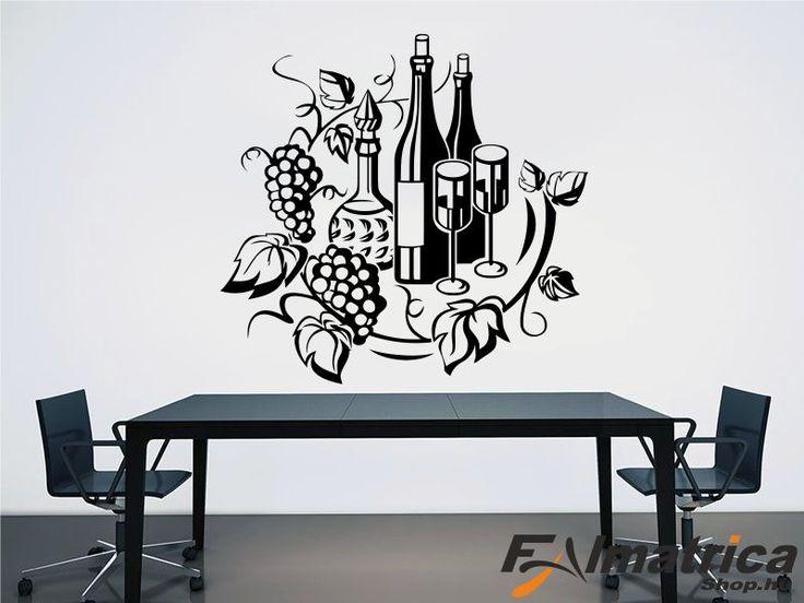 52. Borok szőlővel falmatrica