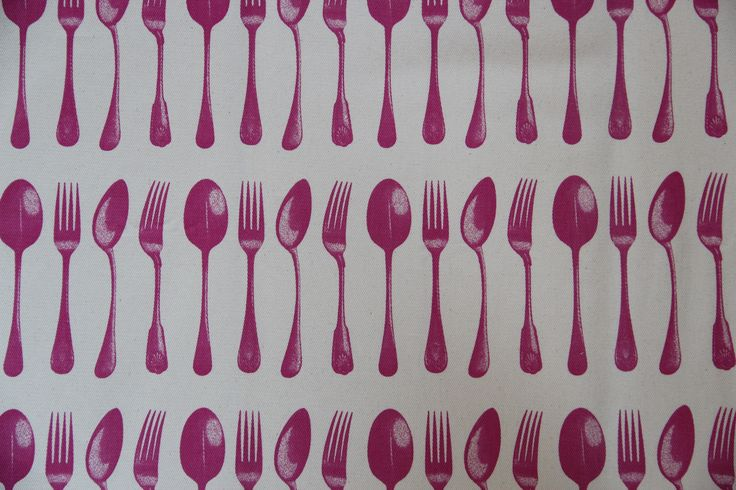 Canvas Spoons & Forks red