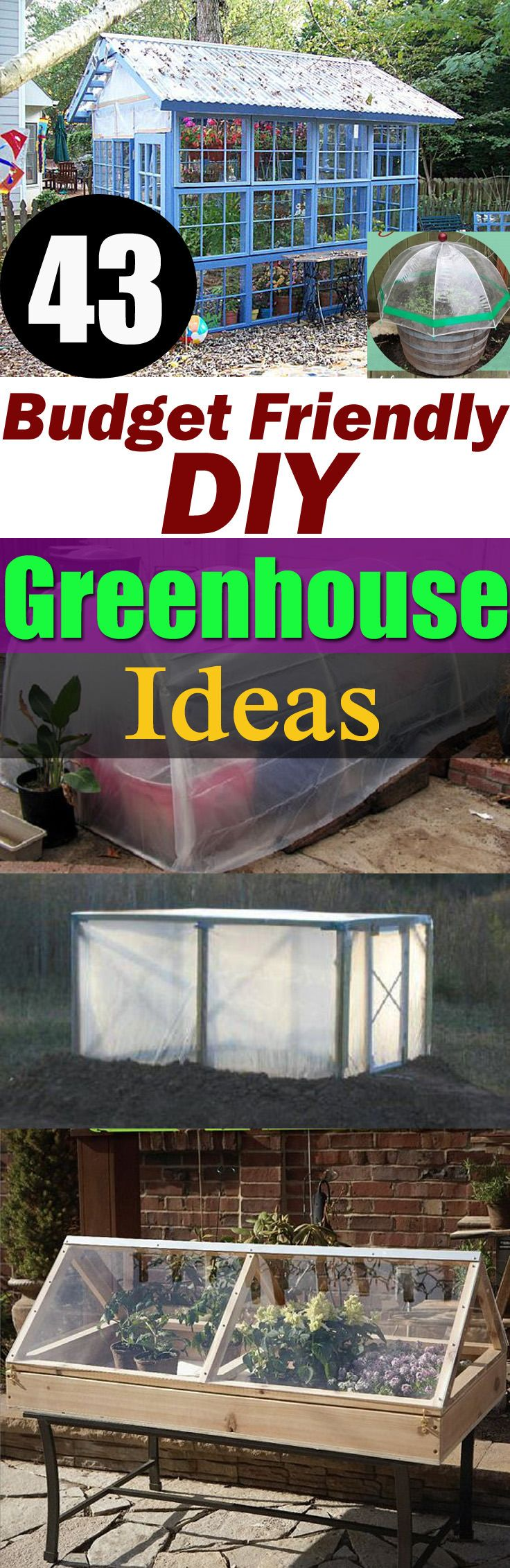 Take a look at some of the best Budget-Friendly DIY Greenhouse Ideas for both the small and large space!