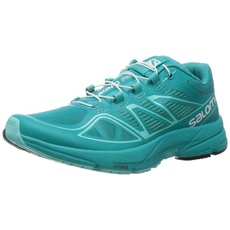 Salomon Women Athletic Shoes Sonic Pro Shoes Teal Blue