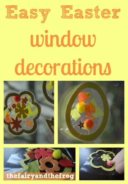 17 best images about easter party on pinterest crafts - Window decorations for spring ...