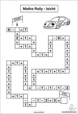 Mathe Rätsel leicht - plus minus