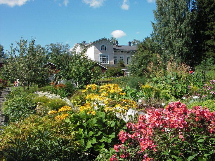 Pappilan puutarhan kukkaloistoa.