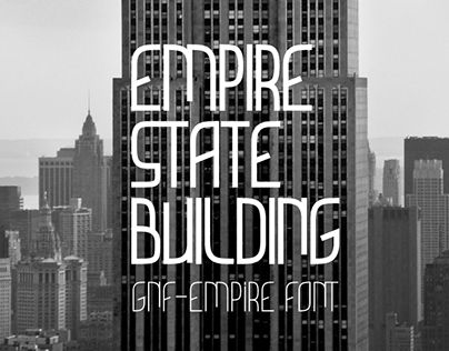 """Check out new work on my @Behance portfolio: """"GNF-Empire Font"""" http://be.net/gallery/37882535/GNF-Empire-Font"""
