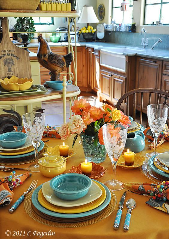 The Little Round Table: Turquoise For Fall