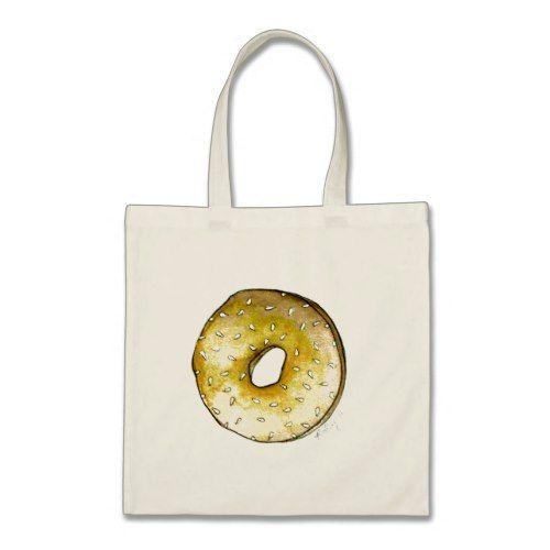 NYC Breakfast Sesame Seed Bagel Bagels Tote Bag