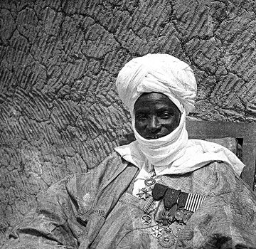 "Africa | ""Member of the Djermakoy cavalry"".  Tabaski Festival in Dosso, Niger. 1936 