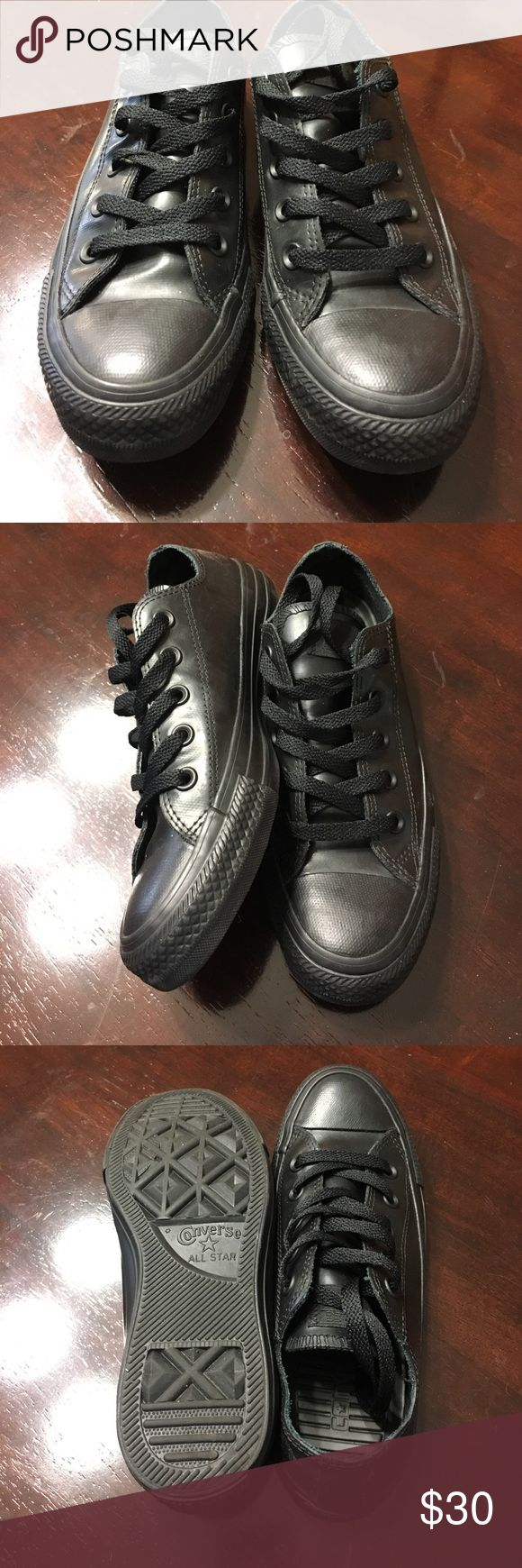 Barely worn Converse black, low tops Barely used Converse low tops Converse Shoes