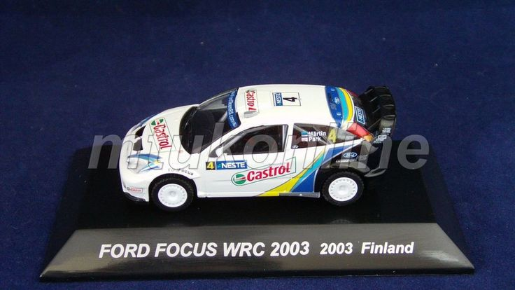 CM S RALLY CAR COLLECTION | SS9 | FORD FOCUS WRC 2003 FINLAND | 1/64 | CASTROL
