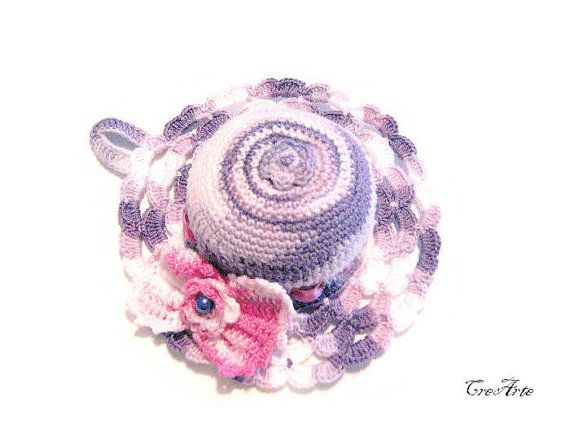 Crochet Pincushion Shades of Purple Pincushion by CreArtebyPatty