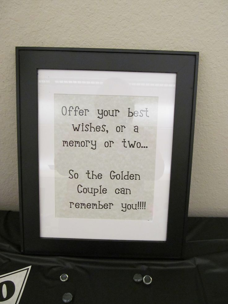 This sat next to the memory tree at my parent's 50th wedding anniversary party.