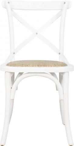 Block & Chisel white crossback dining chair  Jenny Crossback Dining Chair Product Code MICH0003 R1,495 Add to Wishlist To check availability on this product, please submit an enquiry above. Description  Our Jenny crossback dining chair is something of a signature piece for us, inspired by traditional café chairs, its caned seat, cross back and wide choice of finishes make it the perfect choice for a kitchen or dining table.