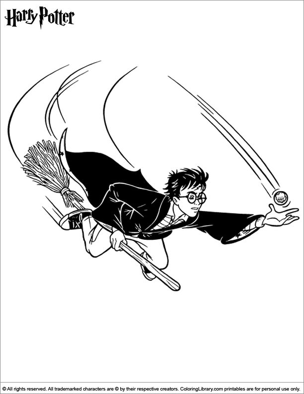 Harry Potter Coloring Pages Quidditch 194 best Colori...