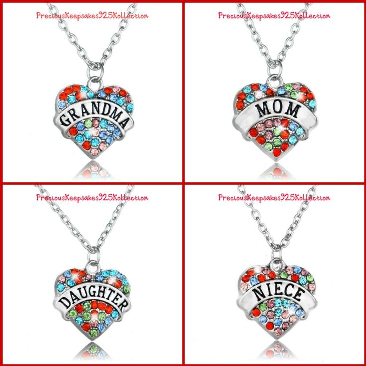 Sweet HEART Shaped Rhinestone Accent Necklace~4 Styles~It's a BLING Thing! #PreciousKeepsakes925Kollection #Necklace