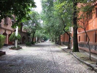 Coyoacan neighborhood in Mexico City