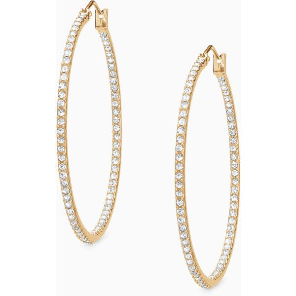 Stella & Dot Adelaide Hoops ($39) ❤ liked on Polyvore featuring jewelry, earrings, stella dot jewelry, surgical steel earrings, surgical steel hoop earrings, hoop earrings and sparkly earrings