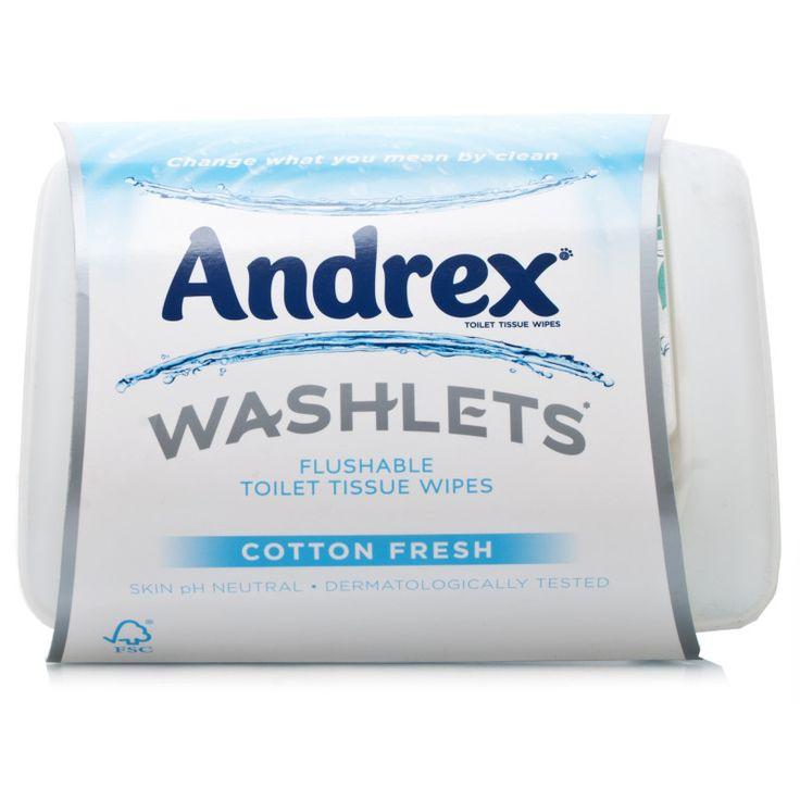 Andrex Washlets Flushable Toilet Tissue | Tissues | Chemist Direct