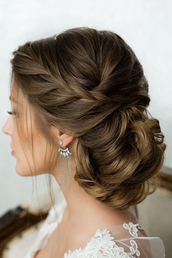Wedding Updos Elegant Low Bun Long Hair Styles Bridal Hair Updo Hair Styles
