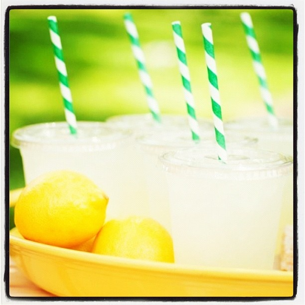 Fresh Lemonade for a hot summer day! #summer #lemonade