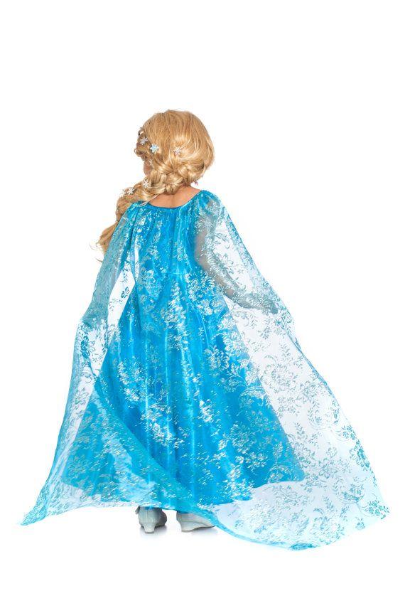 Elsa vestido para las niñas de traje de Elsa de por ilildesigns