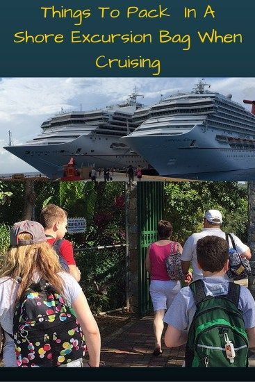 offshore, shore excursions, travel, ports of call, back pack, packed bag for shore excursions, what to pack for shore excursions when cruising, cruising, carnival, travel, expeditions, adventure, dana vento