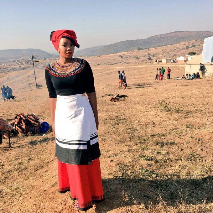 Umbhaco. Xhosa traditional regalia