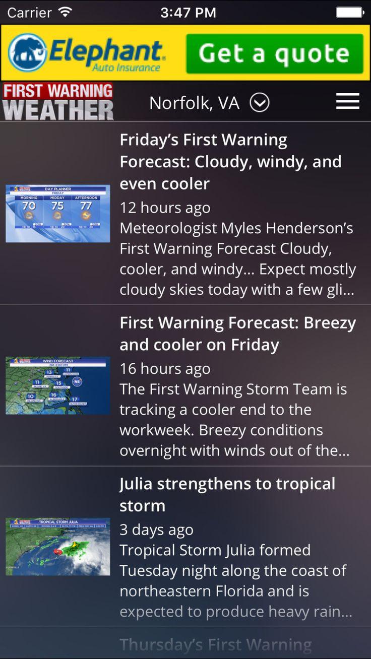 News 3 First Warning Weather CompanyBroadcastingapps