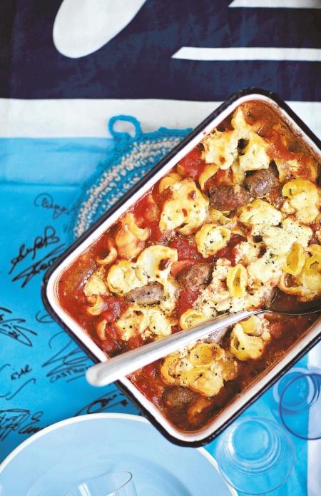 Tomaatti-Chorizo-Juustopasta